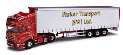 Corgi CC13737 Scania R Vinyl Curtainside - Parker Transport (SW) Ltd - Chilcompton, Somerset 1